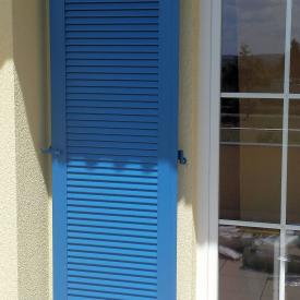 EHRET Klappladen Modell JS  Farbe: Brilliantblau