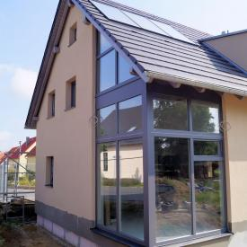 Projekt: Anfang 2013. Große Glasfassade mit Weru Fenstern.