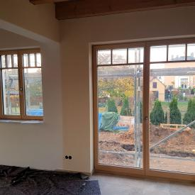 PaX Holzaluminiumfenster mit Sprossen